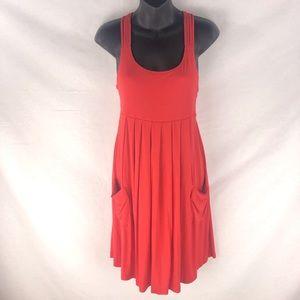 Calvin Klein Red Sun Dress String Strap Sz 4